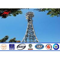 Buy cheap High Voltage Galvanized Steel Electric Monopole Telecommunication Tower from wholesalers