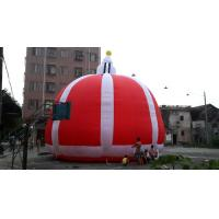 Buy cheap Fabric Outdoor Inflatable Dome Tent , Red Inflatable Promotion Air Tent Figure from wholesalers