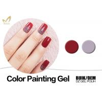 Buy cheap Organic UV Gel Nail Gel Paint , No Fade 3d Gel Paint Chemical Free from wholesalers