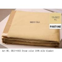 Buy cheap Art No. Sk13-0922 Straw Color 100% Silk Blanket from wholesalers