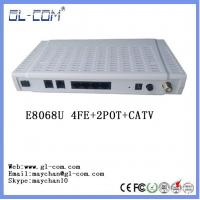 Buy cheap GEPON ONU E8068U (4FE+2POTS+CATV+Wifi) EPON ONU CATV fiber ONU GPON ONU from wholesalers