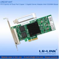 Buy cheap 10/100/1000Mbps PCIE X4 Quad 4*RJ45 Port Network Card from wholesalers