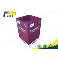 Buy cheap Eco - Friendly Paper Cardboard Recycling Bins Snacks Retail Point Of Purchase Displays from wholesalers