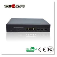 Buy cheap Saicom Metal black Stable Gigabit meet IEEE802.1q/a/d desktop smart/Intelligent 3GX4GE Optical Switch for IP Camera from wholesalers