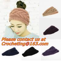 Buy cheap Cute Crochet Headbands Hair Head Band Bow Kid Baby Girl Accessories Knitted Headwrap Hair Band Fashion Knotted Crochet from wholesalers