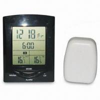 Buy cheap Digital Wireless Thermometer with Alarm Clock, RF Distance Upto 50m, Receive Three Remote Sensor from wholesalers