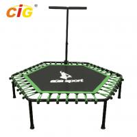 Buy cheap Outdoor Steel Frame Mini Little Kids Trampoline For Childrens Green Color product
