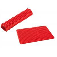Buy cheap Protable Red Pyramid Silicone Kitchenware Mat 40*30 Cm Easy To Storage from wholesalers