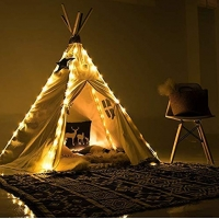 Buy cheap Wood Frame Cotton Canvas Indian Teepee Tent for child from wholesalers