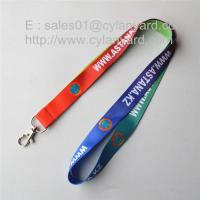 Buy cheap Simple cheap sublimation id badge lanyards, sublimation full color lanyards, from wholesalers