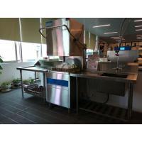Restaurants Hood type dishwasher 6.5KW / 11KW 1400H 650W 800D ECO-F1