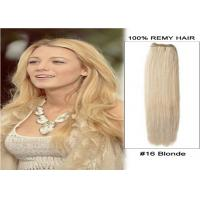 Double Weft Virgin Peruvian Hair Colored Human Hair Extensions 24 Inches