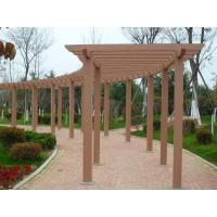 Buy cheap Garden / Prefab Wall Mounted Pergola , Red Wood / Coffee Recycled Plastic Pergola from wholesalers