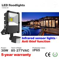 Buy cheap 30W PIR Infrared induction Motion sensor Outdoor LED Floodlight lighting Flood light from wholesalers