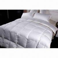 Buy cheap 80% White Duck Down Duvet in White, Made of Fabric 60 x 40/173 x 120 1cm Strip and 100% Cotton Satin from wholesalers