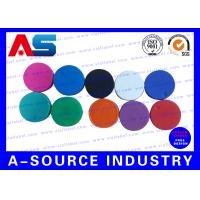 Buy cheap Plain  Vial Glass Bottle Caps  Flip Off Lids For Serum Vials Various Colours from wholesalers
