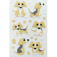 Buy cheap pup dog home Wall Puffy Animal Stickers custom printed Removable from wholesalers