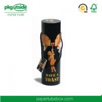 Buy cheap Kraft Paper Cylinder Wine Gift Tube Elegant Design Embossing Stamping Logo from wholesalers