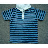 Buy cheap 2000pcs Polo style  boy kid's short sleeve Tee shirt summer blue&white stripe tops from wholesalers