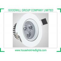China 3 Watt High Power LED Spot Light , Recessed LED Spot Lamps 45 Degree Beam Angle on sale