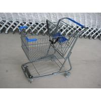 Buy cheap Unfolding Style Supermarket Shopping Trolley , Wire Metal Shopping Cart from wholesalers