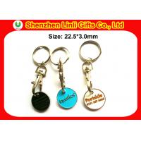 Buy cheap Customs metal keychains shopping cart trolley token keyring for promotional LL-HK1004281 from wholesalers