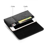 Buy cheap Universal Pouch Leather Case 6.3/5.5/4.7 inch Waist Bag Magnetic Horizontal Phone Cover for iPhone X 8 7 Phone Belt Hols from wholesalers