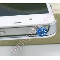 Buy cheap round shamballa rhinestone phone dust stopper from wholesalers