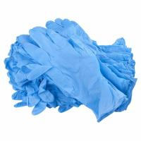 Buy cheap Blue Color Disposable Hand Gloves , Durable Nitrile Exam Gloves Powder Free product