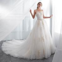 Quality White Color Floor Length Ladies Evening Dresses , Wedding Dresses For Womens for sale