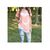 Buy cheap Autumn Polyester Ladies Tops And Blouses Crochet Knit with Washable from wholesalers