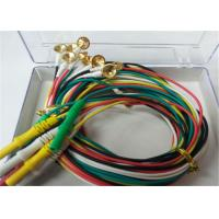 Buy cheap 1.5m TPU EEG Cables With Gold Plating Copper Electrodes 2.0mm Connector from wholesalers