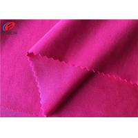 Buy cheap Solid Color 87% Polyester 13% Spandex Fabric , Elastic Knitted Fabric For Apparel from wholesalers