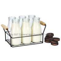 Buy cheap 7 pieces milk bottle caddy for drinking 10oz with Customer logo print product