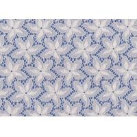 Buy cheap Blue / White Floral French Lace Fabric By The Yard For Swimwear / Toy from wholesalers