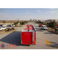 Foam Capacity 9000kg Fire Pumper Truck , Total Side Girder Heavy Rescue Fire Truck