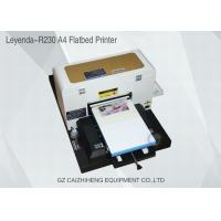 Buy cheap A4 Inkjet Small Format UV Flatbed Printer Curable Desktop For Soft Material from wholesalers