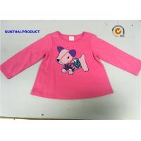 Buy cheap Round Neck Children T Shirt Screen Print / Applique Emb Full Sleeve Tops For Baby Girl from wholesalers