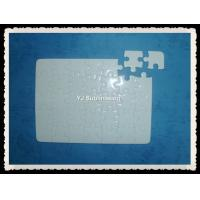 Buy cheap Sublimation A5 white glittering jigsaw puzzle from wholesalers
