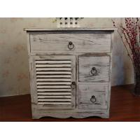 Buy cheap Classic Grey Antique Wooden Storage Cabinet Home Organizer Prefab Drawers from wholesalers
