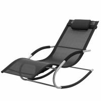Buy cheap Rocking Sun Lounge Chair Iron Structure Adjustable Position All Weather Resistant from wholesalers