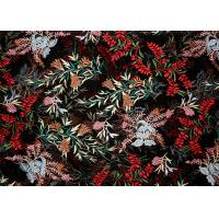 Buy cheap DTM Floral Embroidery Multi Colored Lace Fabric For Show Dress Eco Friendly product