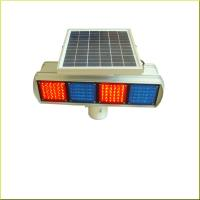 Buy cheap Red And Blue Solar Strobe Light Led Warning Road Beacon with CE Certificates from wholesalers