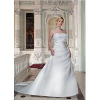 Buy cheap Plus Size Strapless Wedding Dress from wholesalers