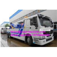 Buy cheap Sinotruk HOWO tow truck wrecker ZZ1167N5618W 10 ton with crane lift arms from wholesalers