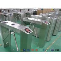 Buy cheap Fingerprint Retractable Flap Pedestrian Barrier Gate Tripod Gates For Entrance & Exit product