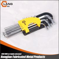 Buy cheap Guangzhou factory cheap custom 9pcs ball point hexagonal allen wrench in inch size from wholesalers