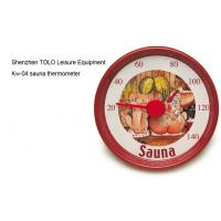 Buy cheap Cartoon round metal thermometer red 13cm diameter for sauna room product