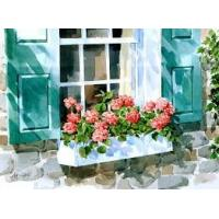 Buy cheap 3d  oil painting flower beside window from wholesalers