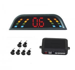 Buy cheap 6 Sensors CE Car Reversing Reverse Parking Kit Buzzer Alarm LED Display Parking Aid two front sensor four back up sensor product